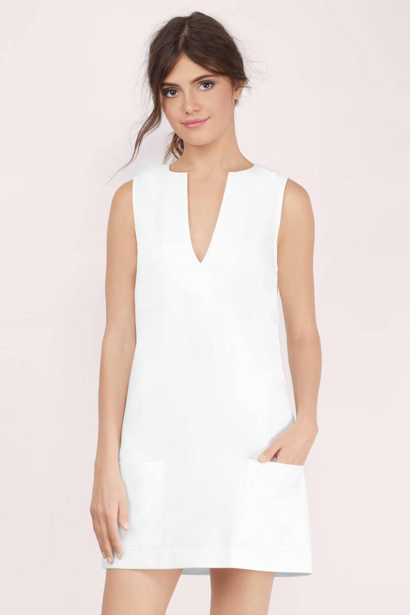White Dress with Pockets