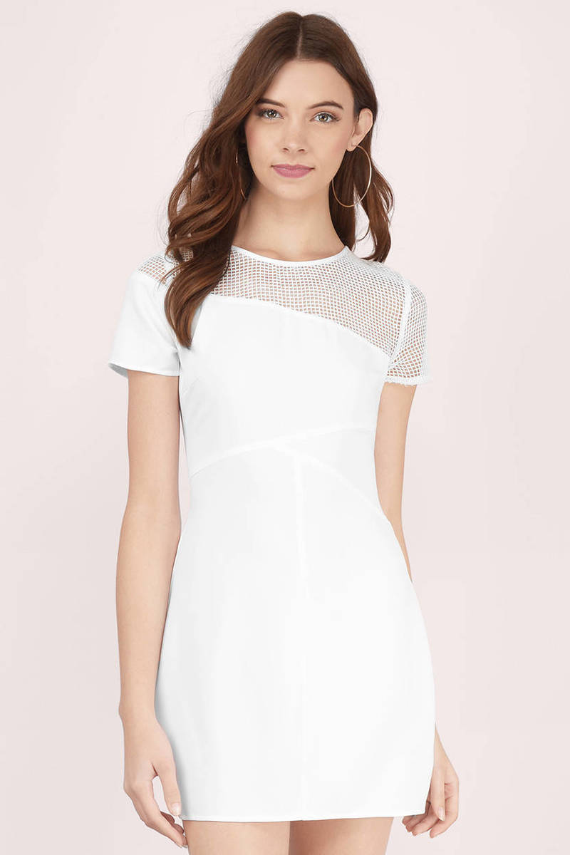 Play The Field White Lace Dress