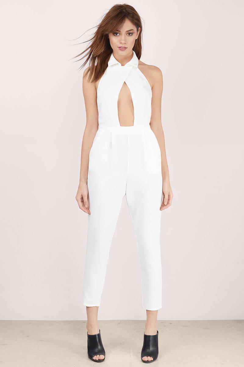 e9c7551a555 White Jumpsuit - Open Back Jumpsuit - Backless Jumpsuit - Jumpsuit ...