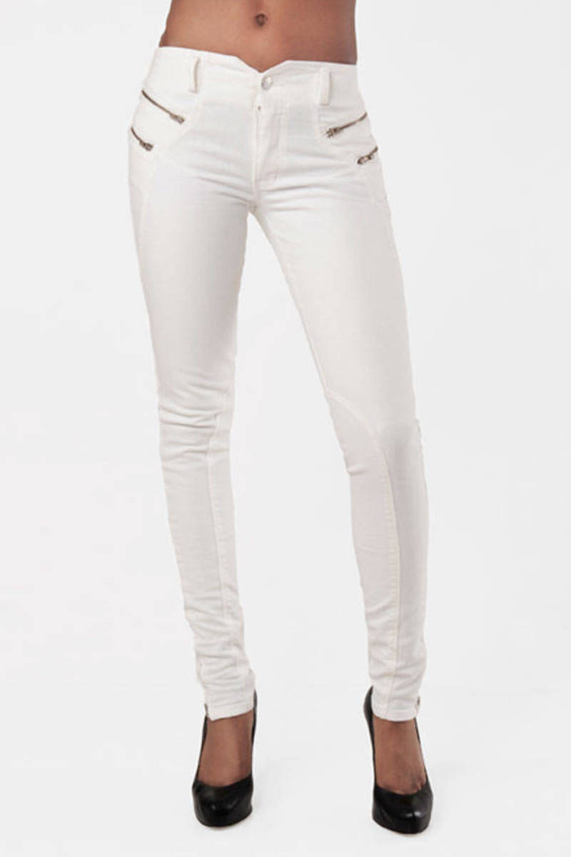 buy online retail prices detailed look Biker Jeans in White Rinse