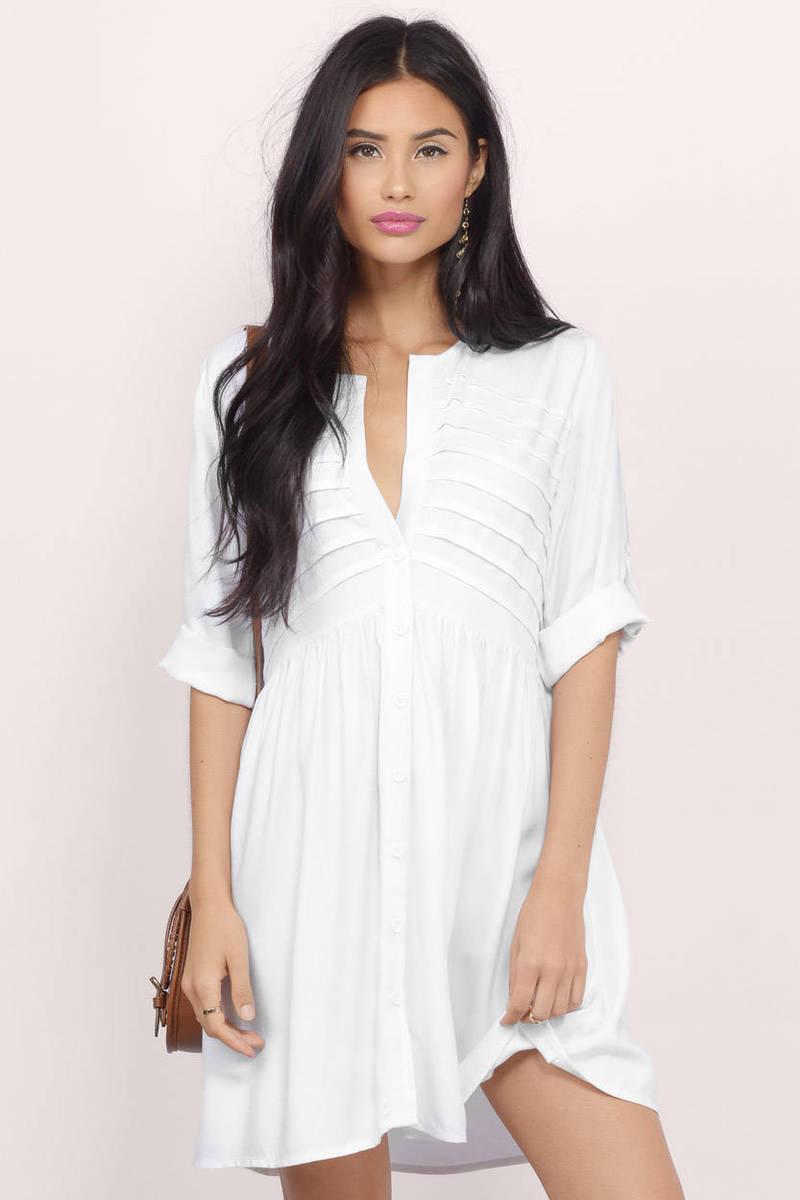 Rosella White Shift Dress