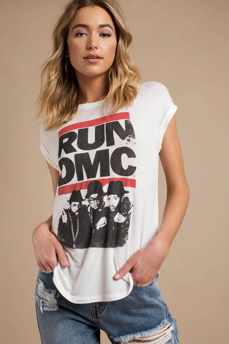 01e1bfe8 White Vintage Shirt - Run Dmc Tee - White Graphic Tee - Band T Shirt ...
