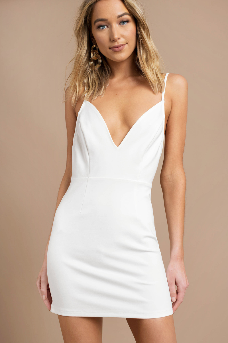 9154fd39b4 White Bodycon Dress - Low Back Bodycon Dress - Classic White Dress ...