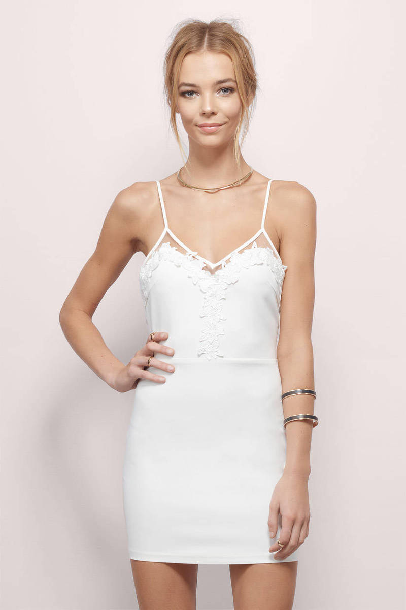 Sinful Knockout White Bodycon Dress