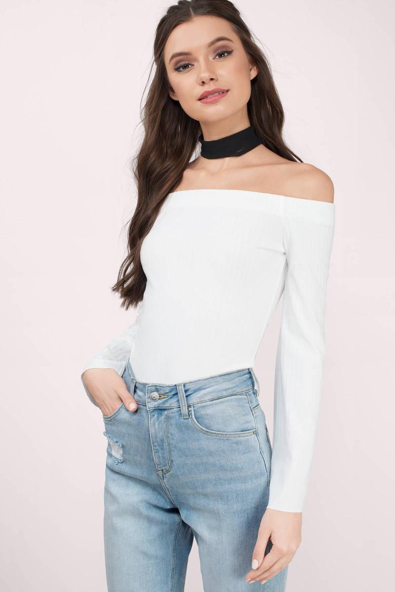 47816a79f117b White Blouse - White Blouse - Long Sleeve Blouse - Opts Blouse - £46 ...