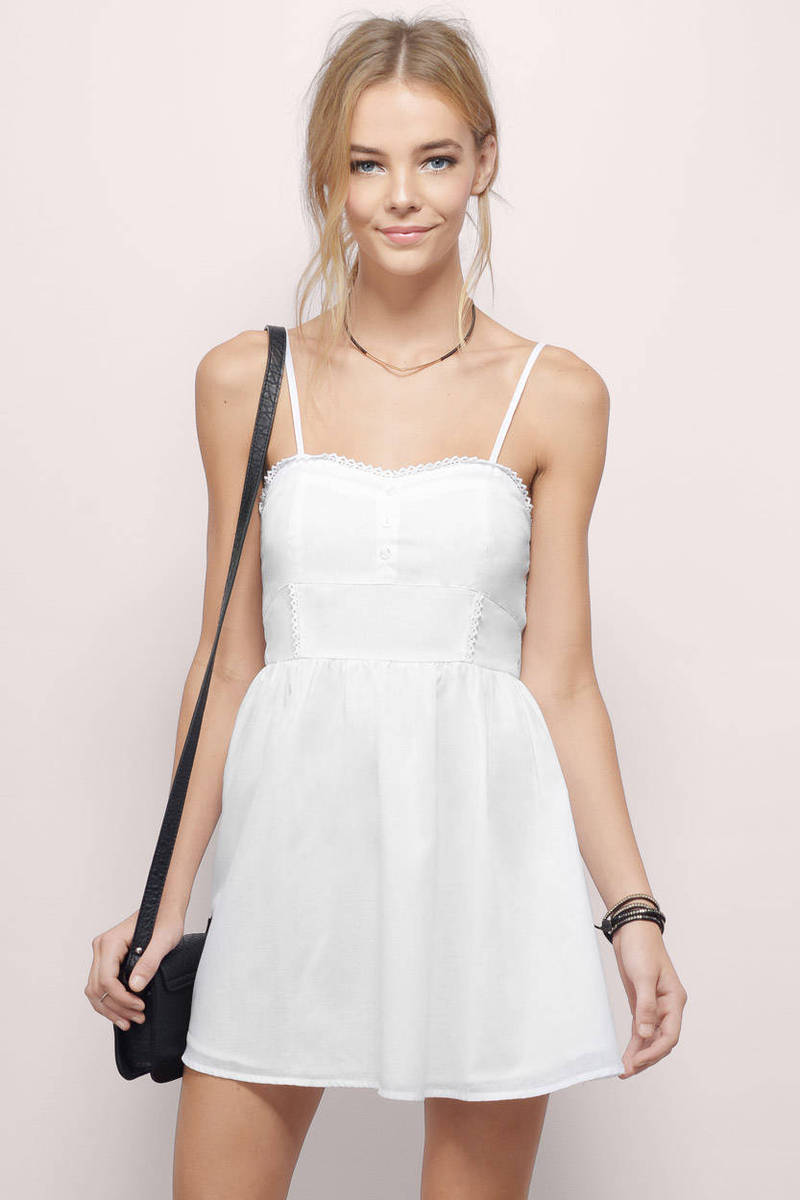 White Day Dress - White Dress - Sun Dress - Day Dress - $10 | Tobi US