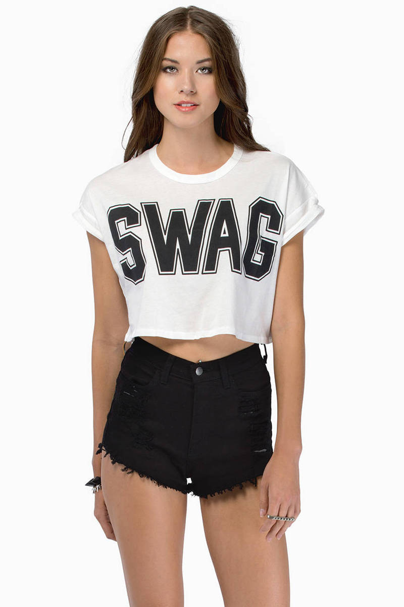 Swagged Out  Crop Top