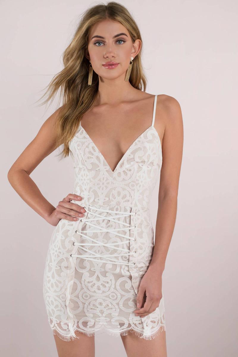 White Bodycon Slip Dress