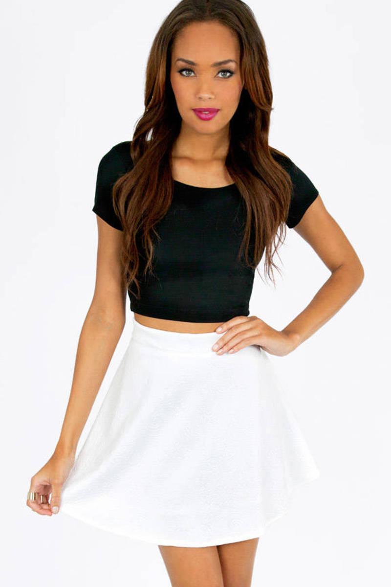 Tracy Embossed Skirt