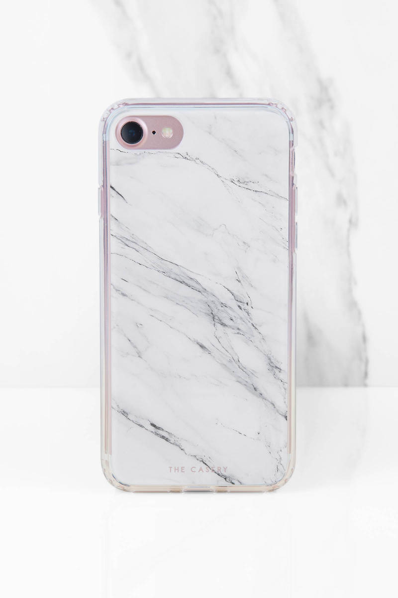 The Casery, Inc. The Casery White Marble Phone Case