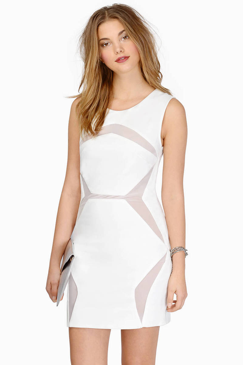 Work Your Angles White Bodycon Dress