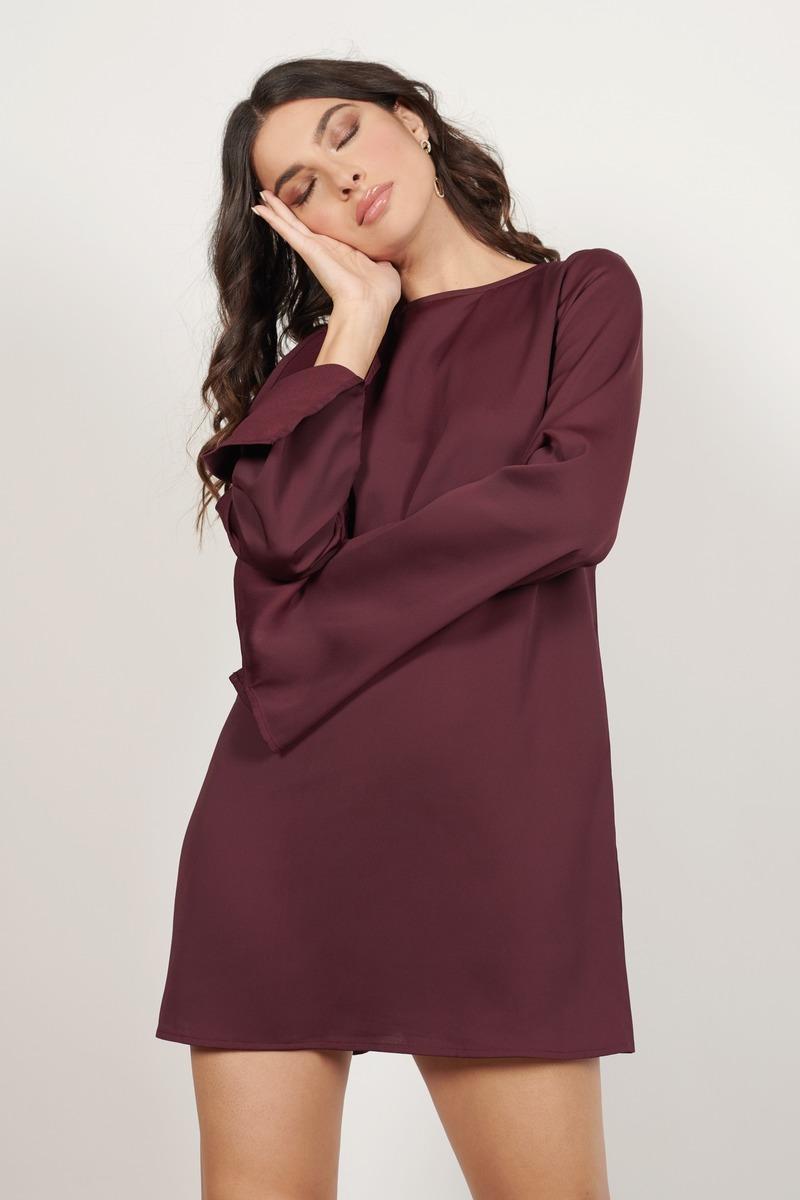 19e4c168b69 Chic Red Shift Dress - Bow Dress - Red Open Back Dress - $26   Tobi US