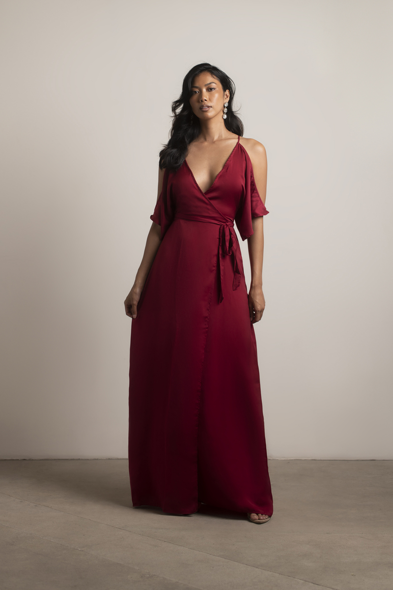 Feeling The Night Wine Maxi Dress -  32  af675d051