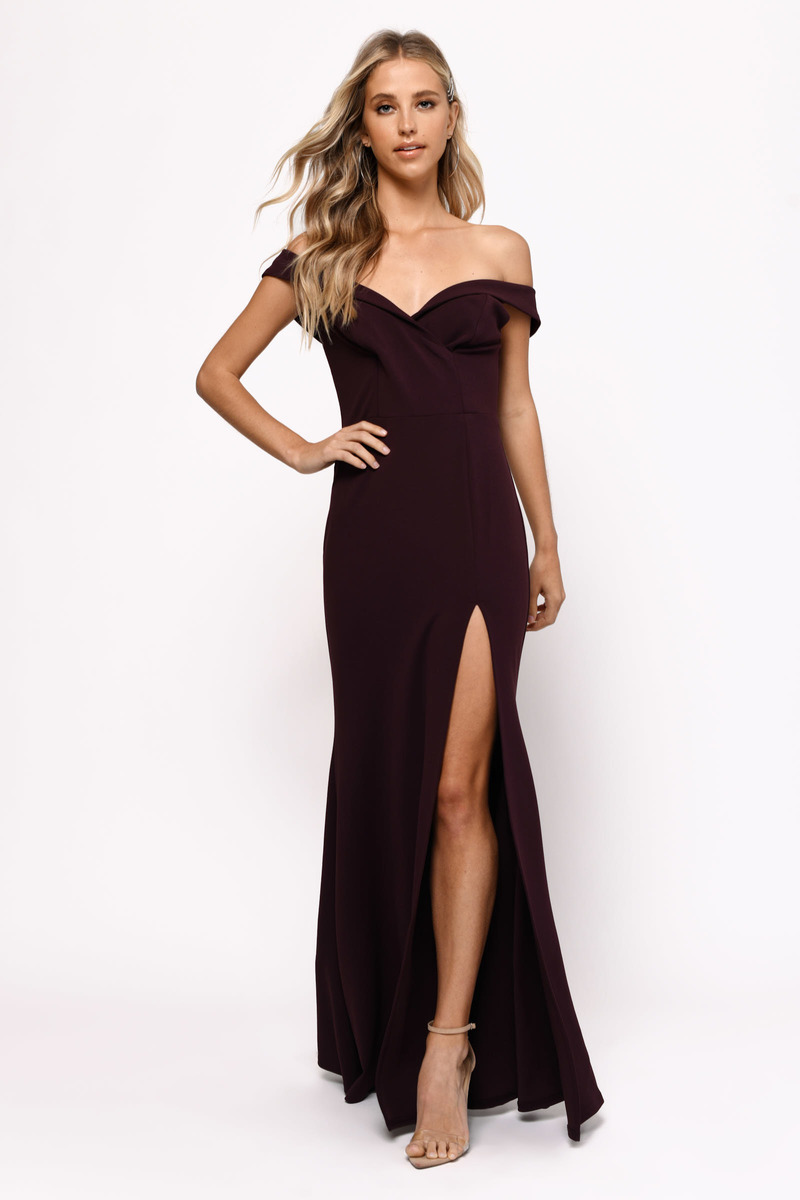 15337686f40 Black Maxi Dress - Open Shoulder Maxi Dress - Black Evening Dress ...