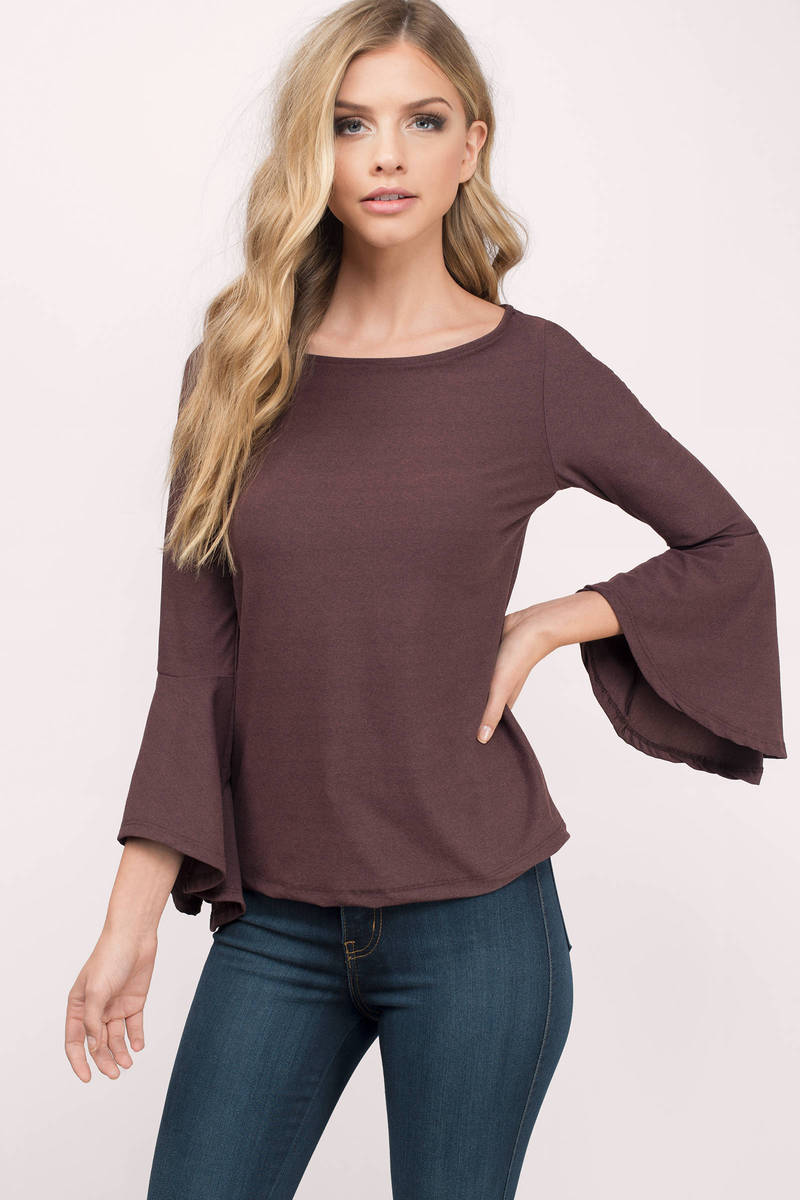 Isabella Wine Solid Shirt