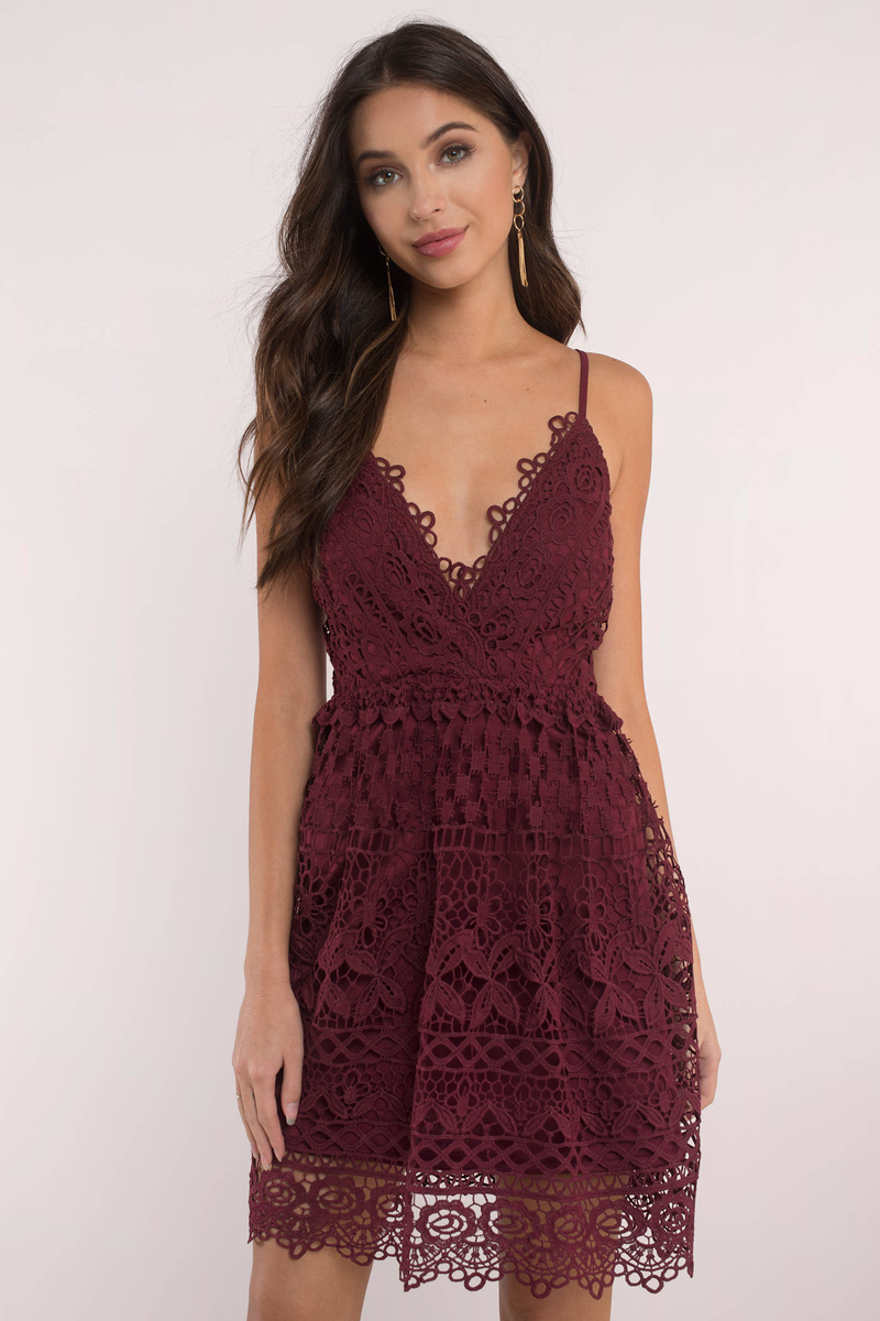 Rose Skater Dress - Lace Dress - Skater Dress