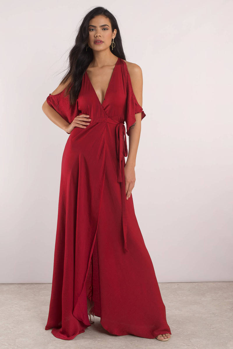 pretty red maxi dress long dress red homecoming maxi