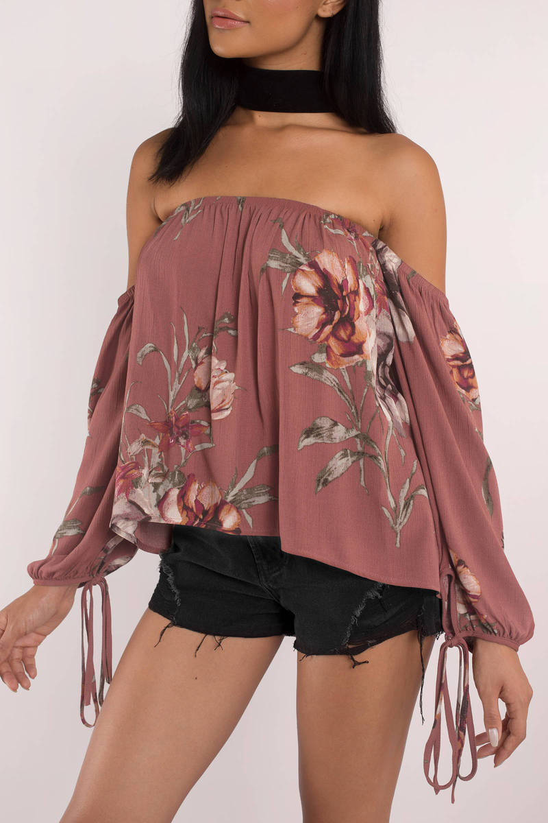Soulmate  Wine Multi  Floral Blouse