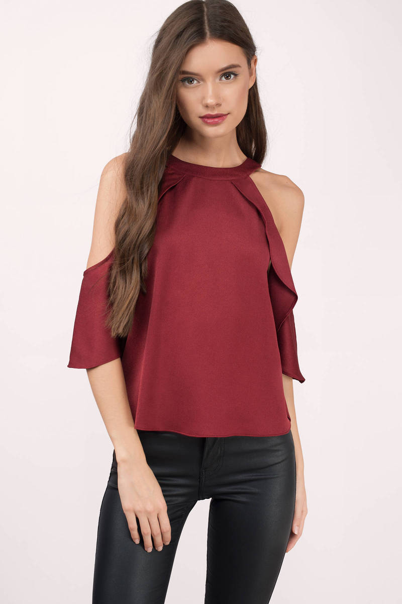 Take A Picture Wine Blouse