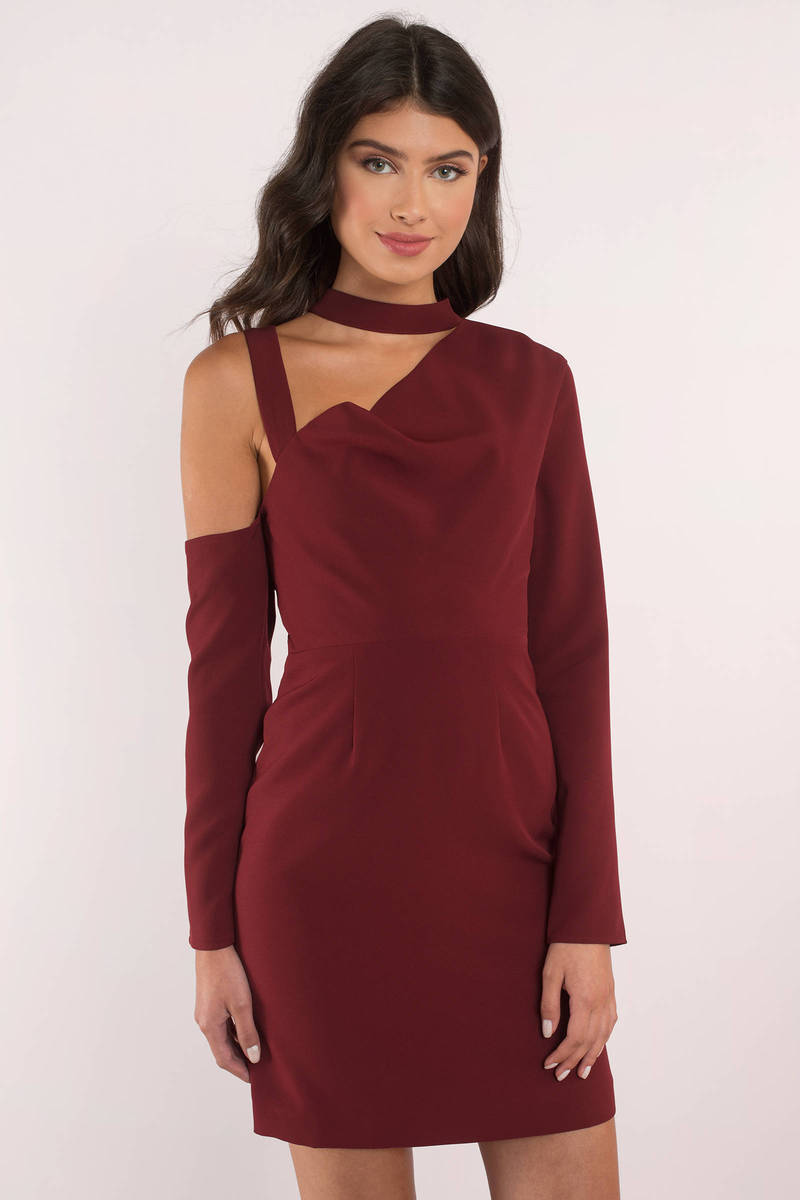 Finders Keepers Finders Keepers The Message Wine Mini Dress