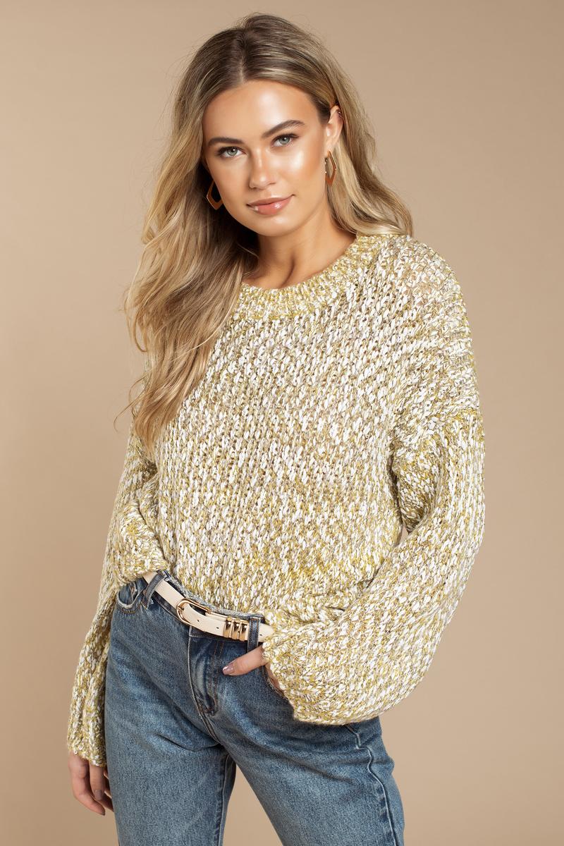 55b84b79fe Yellow Raga Sweater - Chunky Knit Sweater - Yellow Pullover Sweater ...