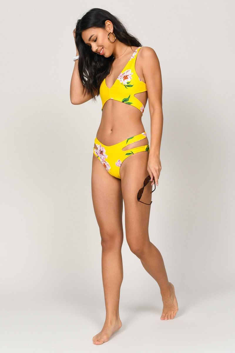 4ba8f00b45a92a Secret Yellow Multi Bikini Bottom - AU$ 8 | Tobi AU