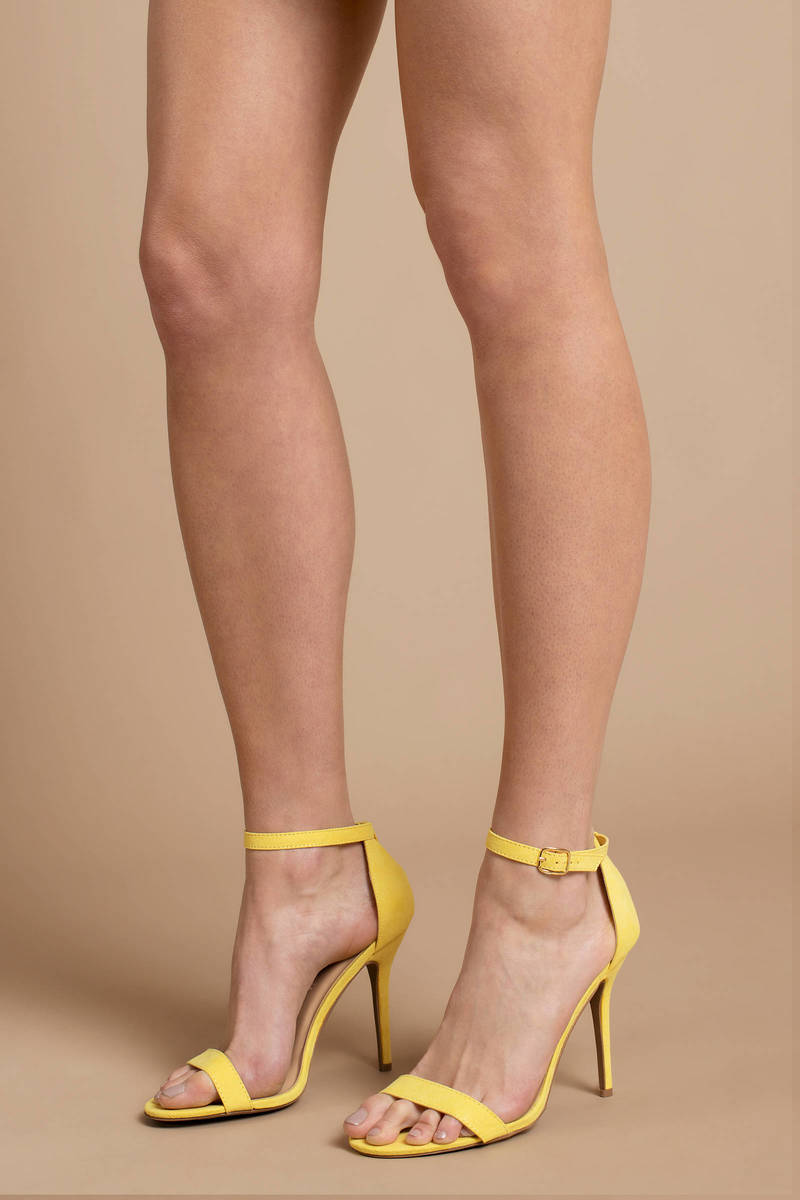 Faux Ankle Xena Strap Heels Suede DHEI2YW9