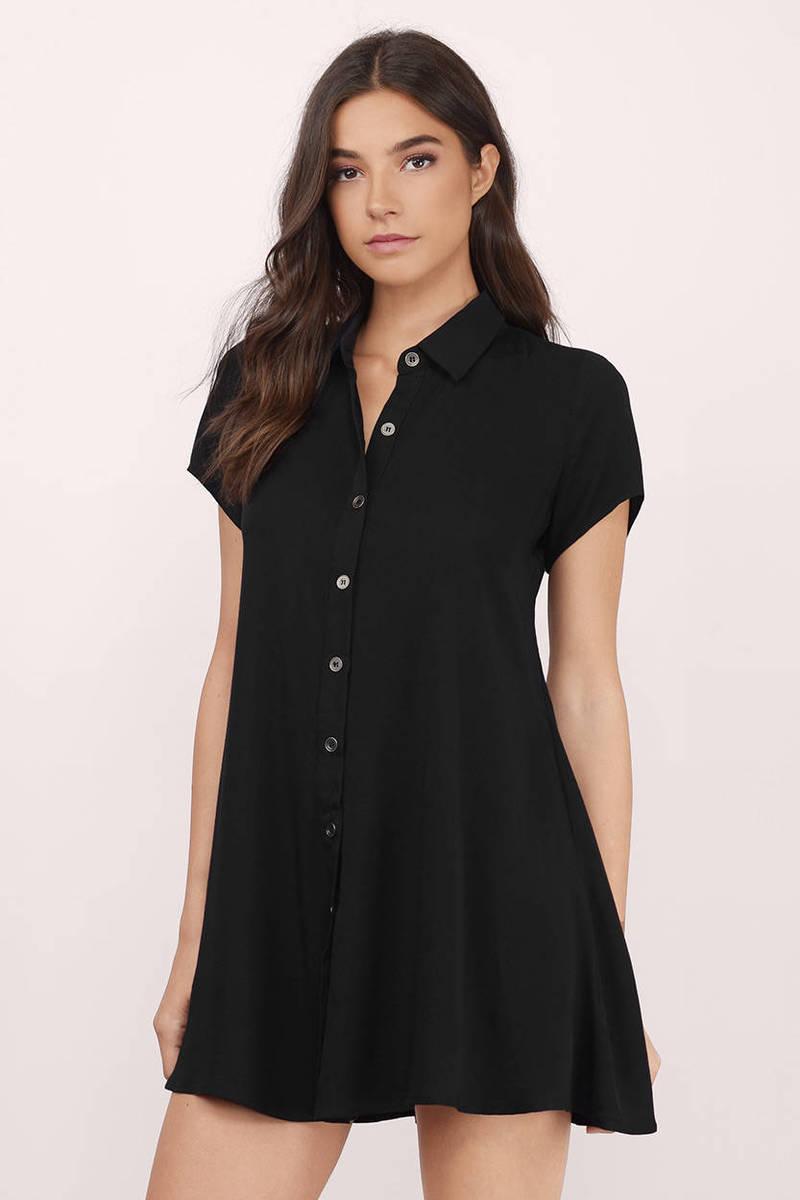Black Collared Tie Back Tropical Print Bodycon Dress From: Black Skater Dress