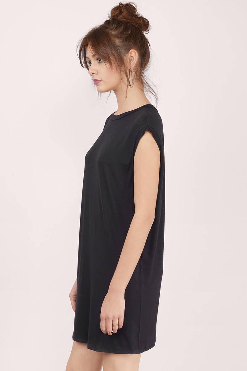 Trendy Black Day Dress - Black Dress - Keyhole Dress - Day Dress ...