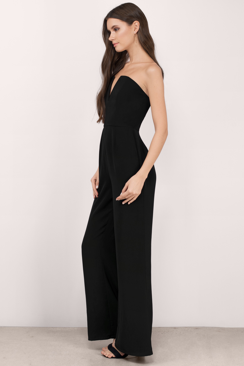 Chic Taupe Jumpsuit - Deep V Jumpsuit - Jumpsuit - Taupe Jumpsuit ...