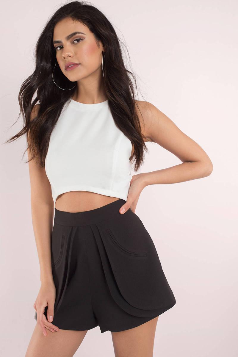 Cute Black Shorts - High Waisted Shorts - Black Shorts - 136-6982