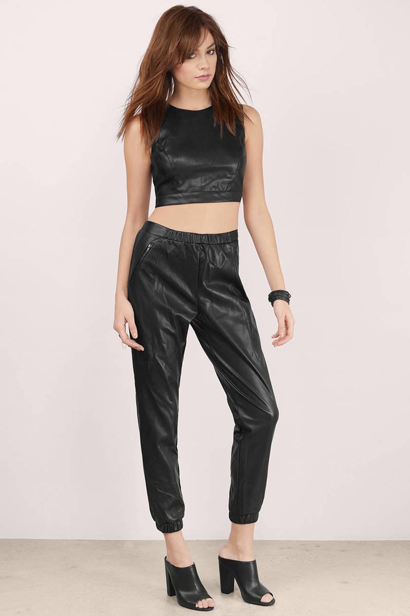 Mega Babe Faux Leather Pants | Tobi
