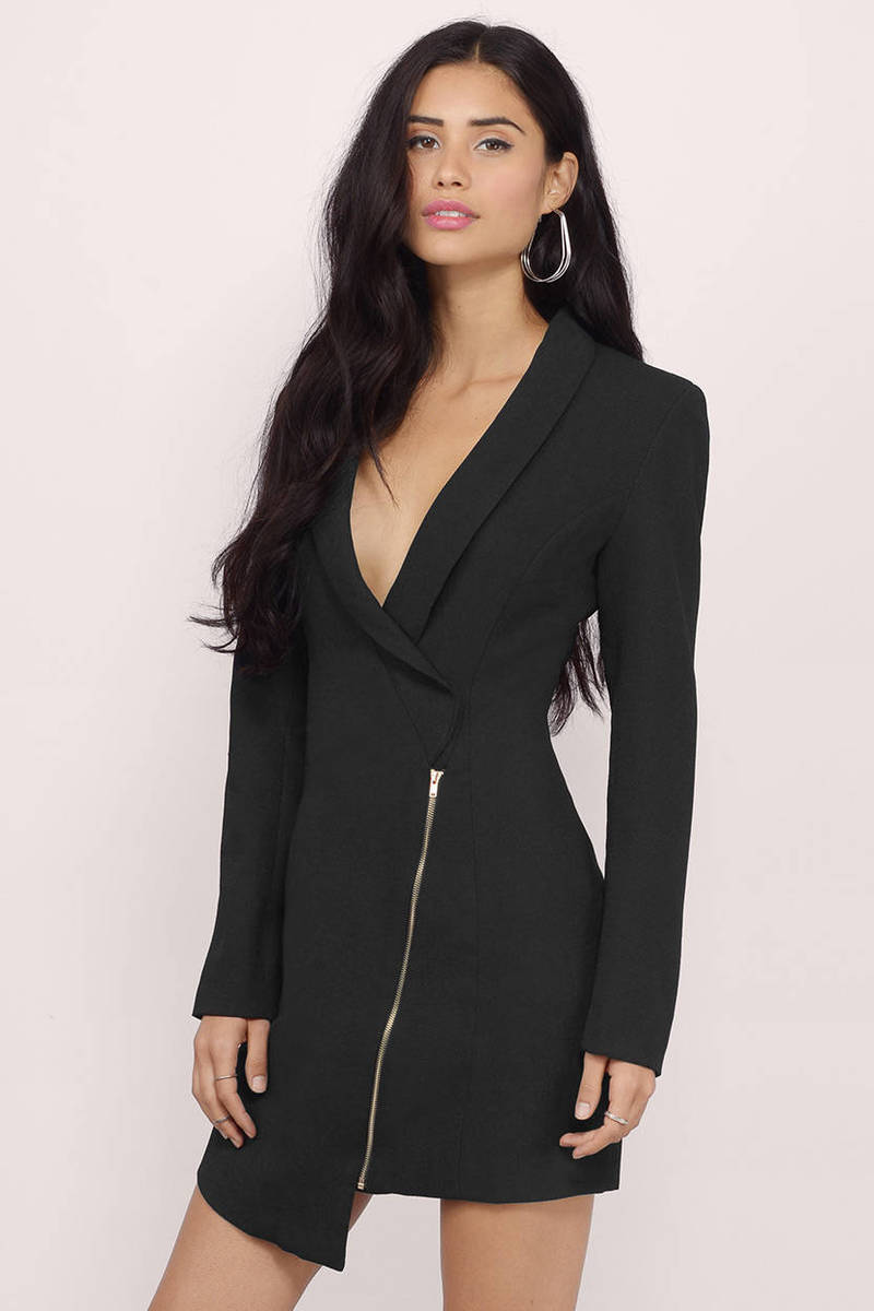 Sexy Black Wrap Dress Long Sleeve Dress 19 00