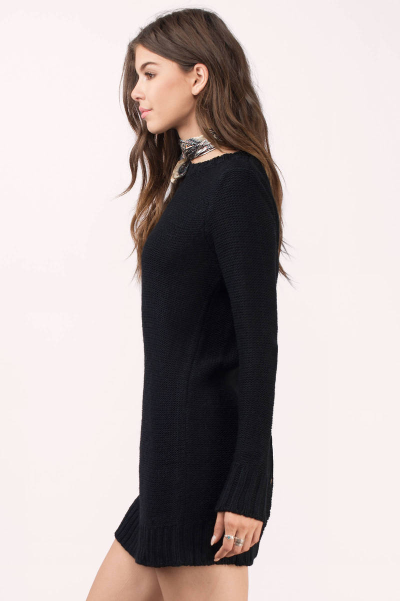Cheap Black Day Dress - Button Back Dress - Day Dress - $20 | Tobi US