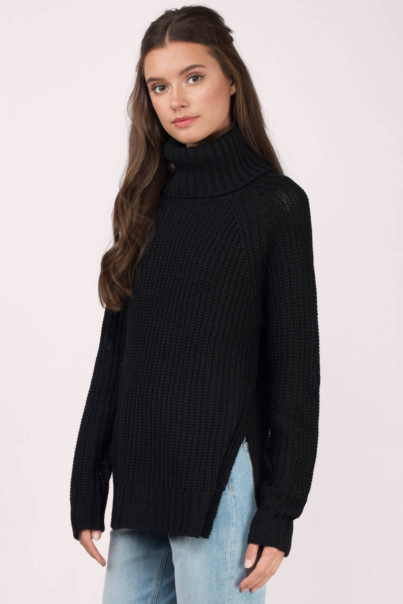 Wine Sweater - Turtleneck Sweater - A Line Sweater - $28 | Tobi US