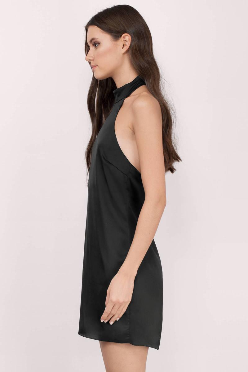 Black dress halter neck - Rainess