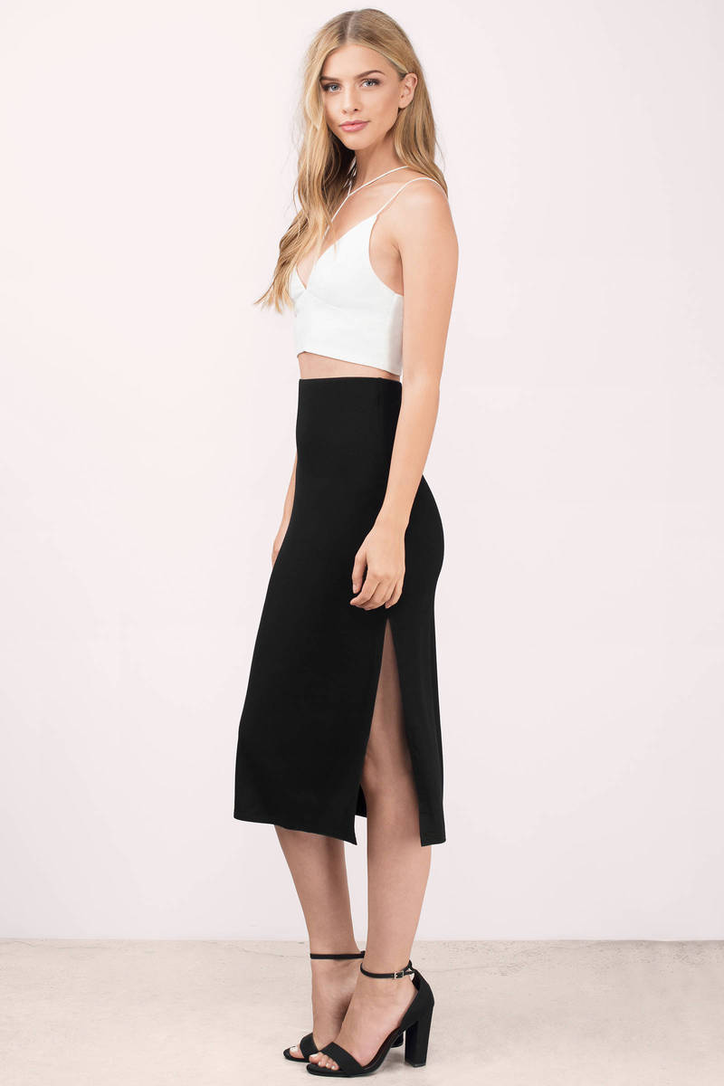 high slit black skirt cute black skirt black skirt high waisted skirt 21 00 8865