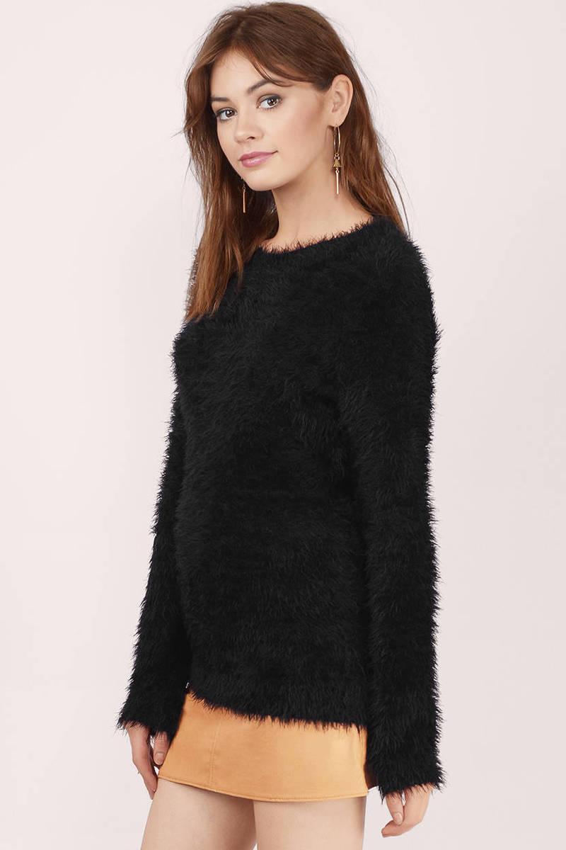 Cheap Ivory Sweater - White Sweater - Fuzzy Sweater - $24.00