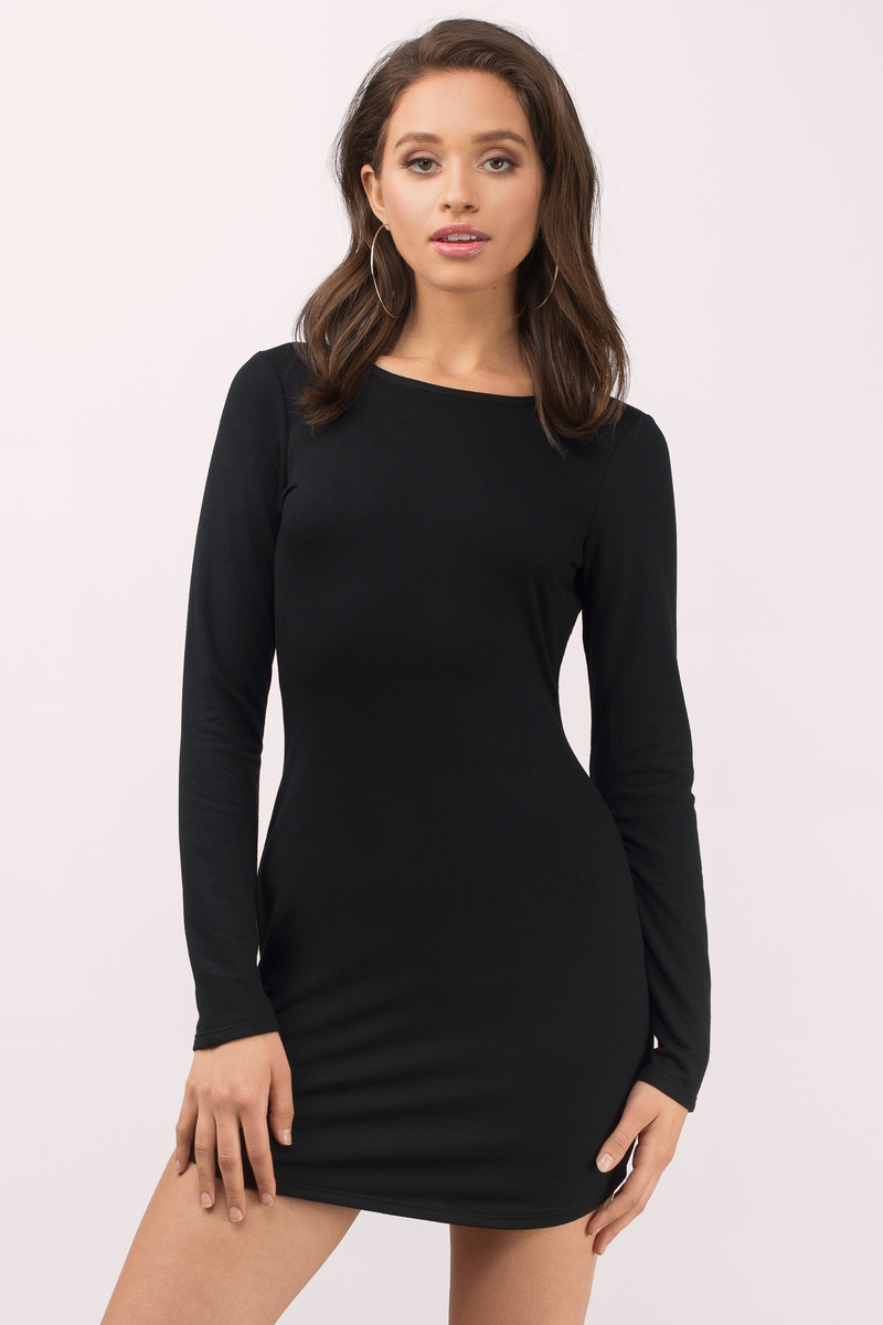 Sexy Heather Grey Bodycon Dress - Backless Dress - Bodycon Dress ...