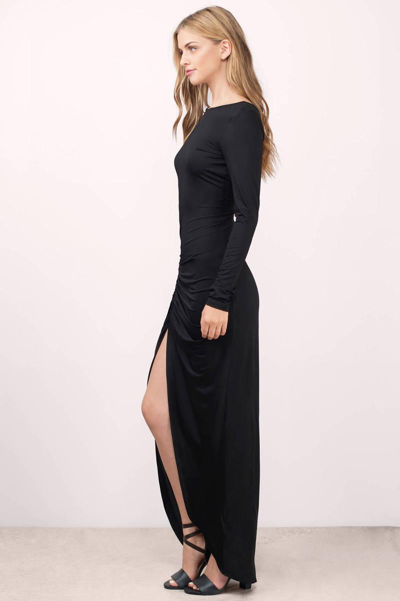 Sexy Mauve Dress - Open Back Dress - Mauve Modest Dress - Maxi ...