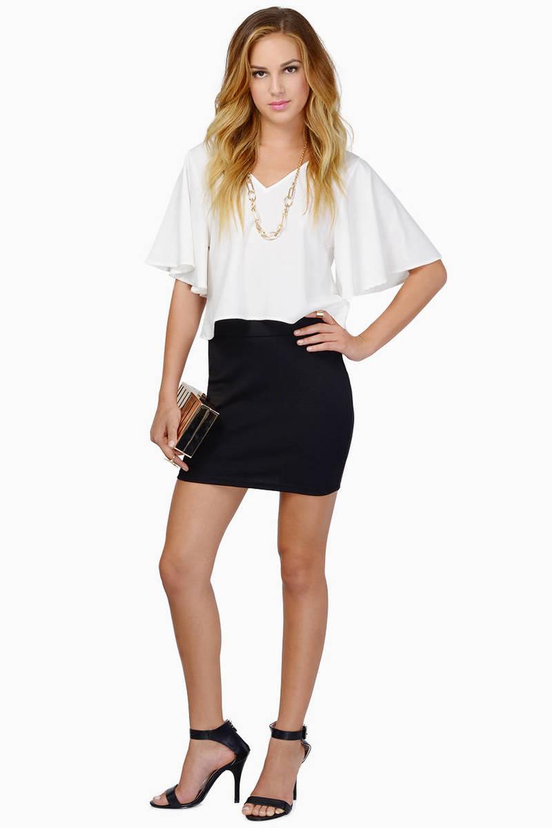 Фото модель черной юбки