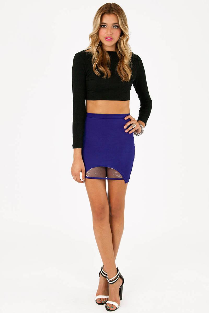 Cute Blue Skirt Blue Skirt Vinyl Cut Out Skirt 10