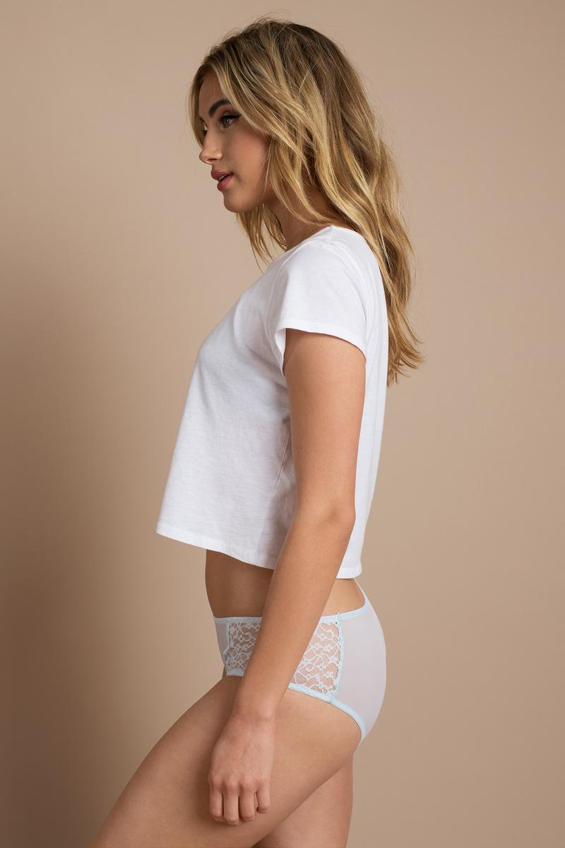Trendy Blue Underwear - Patterned Underwear - Blue -9554
