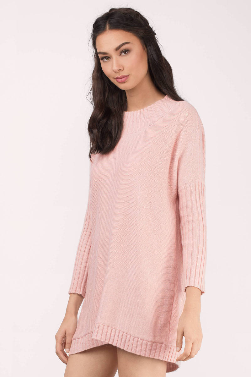 Pink Tunic Sweater Baggage Clothing