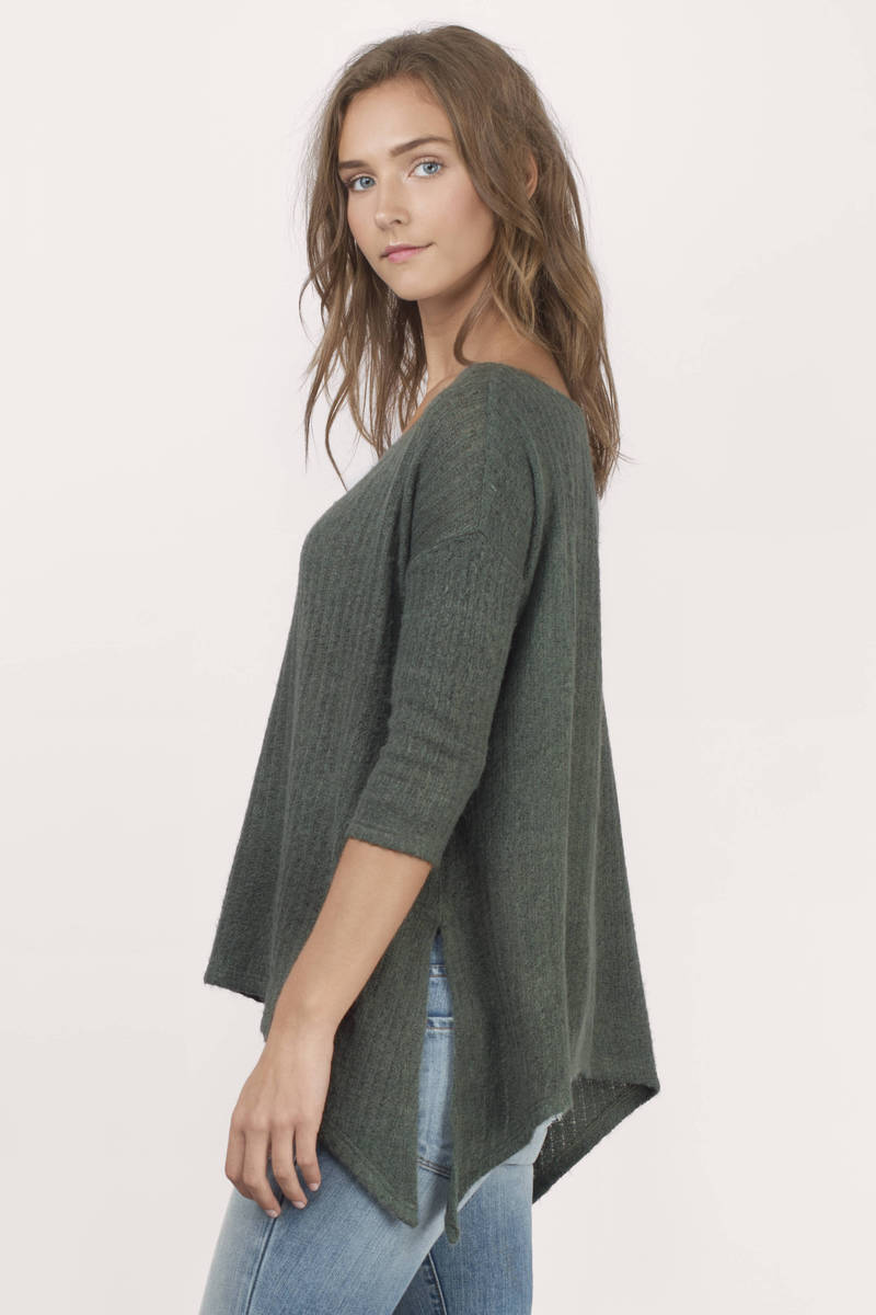 Cute Green Shirt - Green Shirt - Off Shoulder Shirt - Green Top ...
