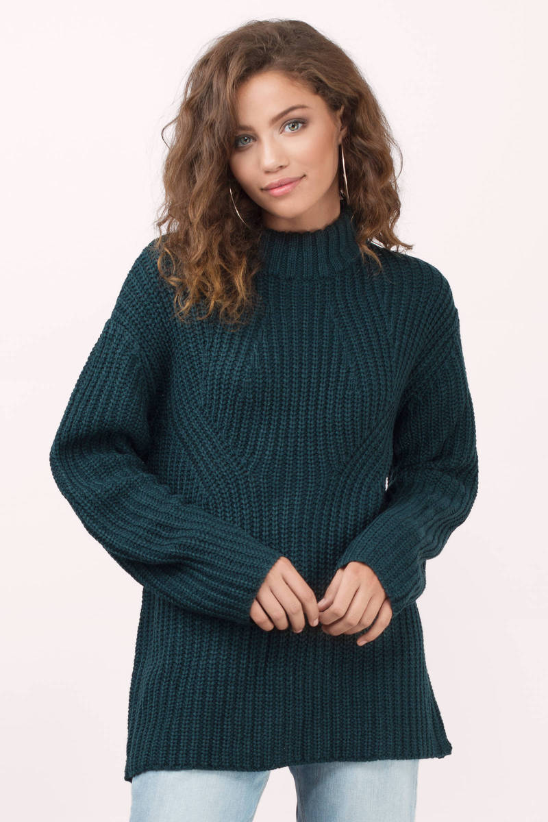 Cute Wine Sweater - Dark Teal Sweater - Wine Sweater - $22 ...