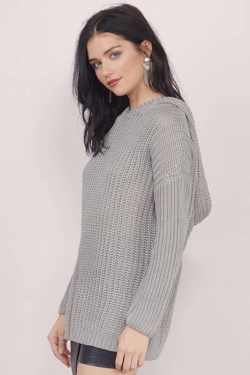 Black Sweater - Oversized Sweater - Black Long Sweater - $13 | Tobi US