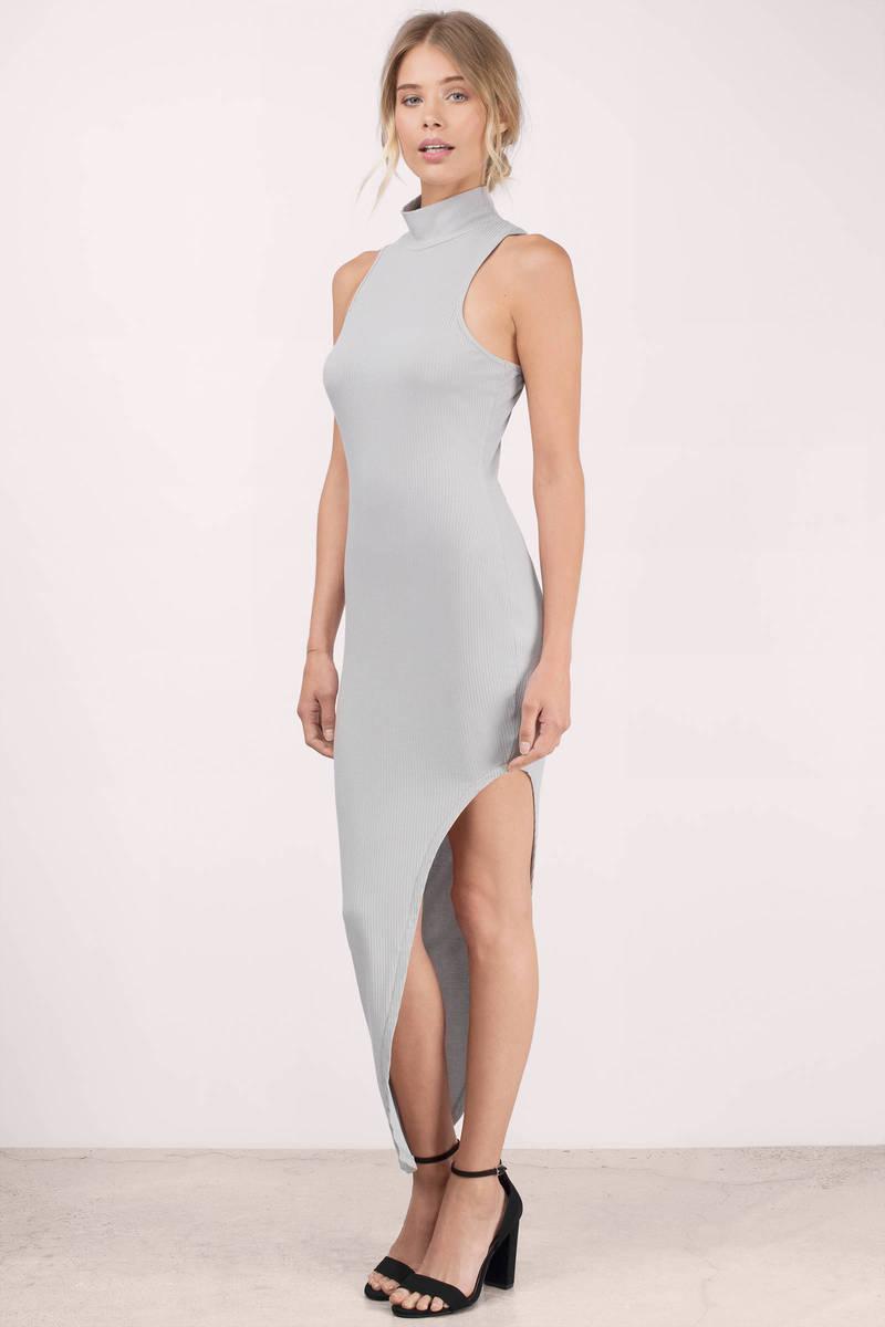 Ivory Maxi Dress - White Dress - Turtleneck Dress - $56.00