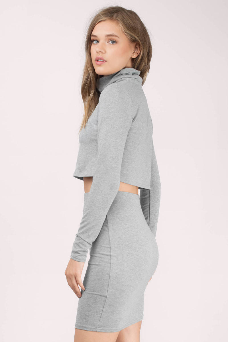 Heather Grey Bodycon Dress Heather Grey Dress