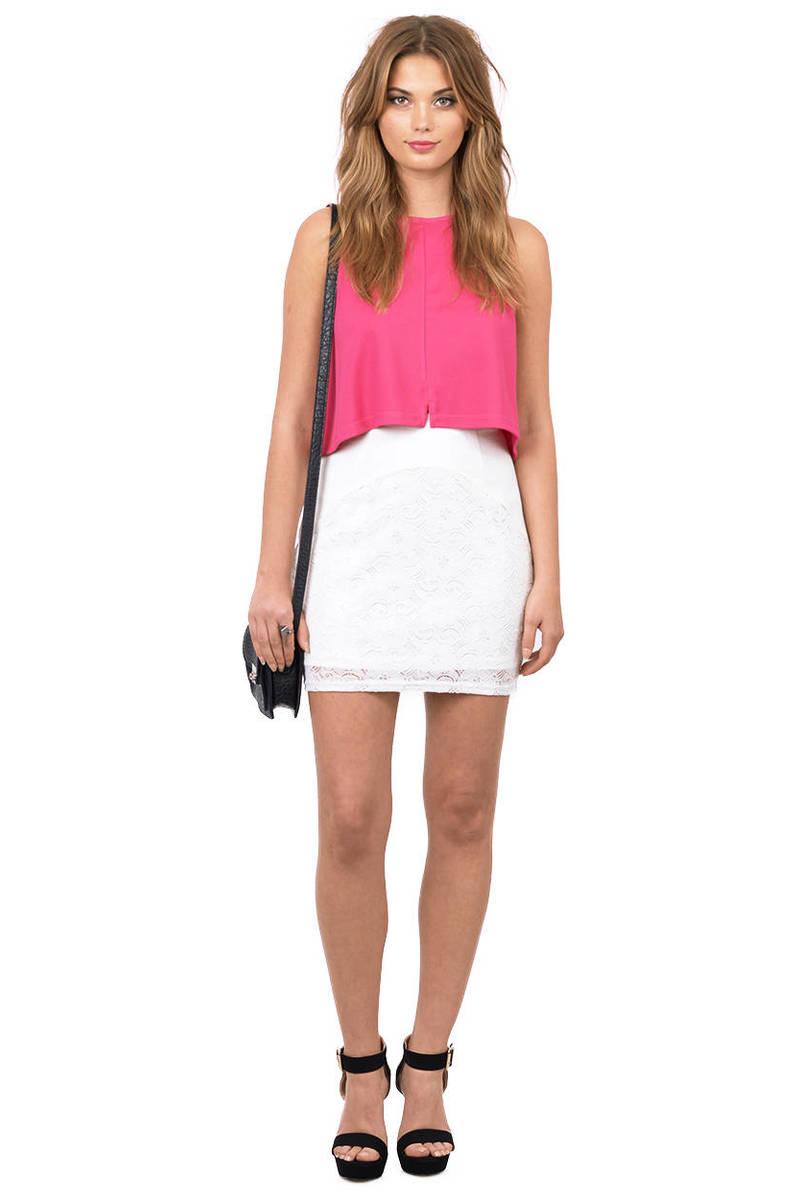 Trendy Ivory Skirt - White Skirt - Short Skirt - $9.00